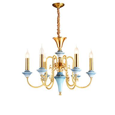ZHISHU 6 świateł Świeca Żyrandol Oświetlenie od dołu (uplight) - Kryształ, Styl MIni, 110-120V / 220-240V Nie zawiera żarówek / 15/10 ㎡
