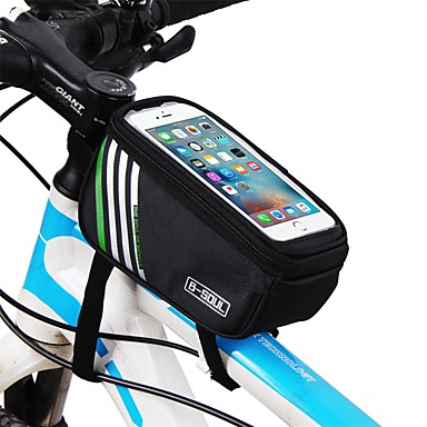 abordables Sacoches de Vélo-Sac de téléphone portable Top Tube Sac 5.7 pouce Ecran tactile Cyclisme pour iPhone 8/7/6S/6 iPhone X Samsung Galaxy S8+ / Note 8 Bleu Noir Rouge Cyclisme / Vélo / iPhone XR / iPhone XS / Zip étanche