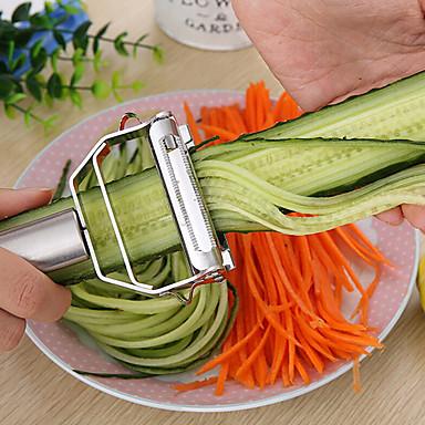 halpa Keittiö ja ruokailu-keittiötarvikkeet ruoanlaitto työkalut monitoiminen ruostumaton teräs julienne kuorinta vihannes kuorinta kaksinkertainen höylääminen raastin