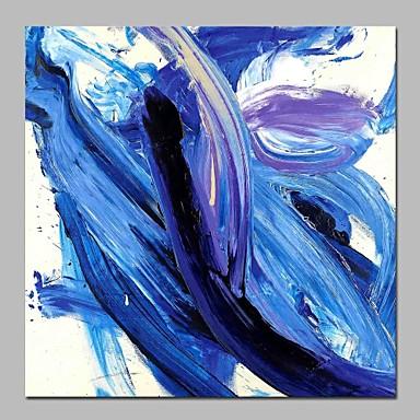 Hang-Malowane obraz olejny Ręcznie malowane - Abstrakcja Nowoczesne Płótno / Rozciągnięte płótno