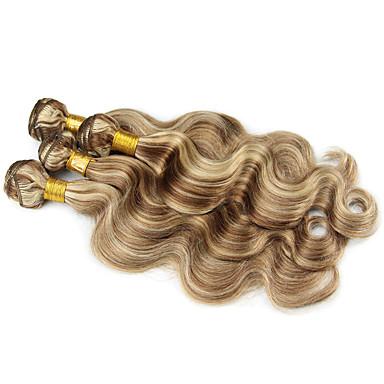저렴한 가발 & 헤어 연장-3 개 묶음 브라질리언 헤어 요동하는 8A 인모 옴브레 한 팩 솔루션 인모 연장 멀티색상 인간의 머리 되죠 소프트 옴브레 헤어 처리되지 않은 인간의 머리카락 확장 여성용