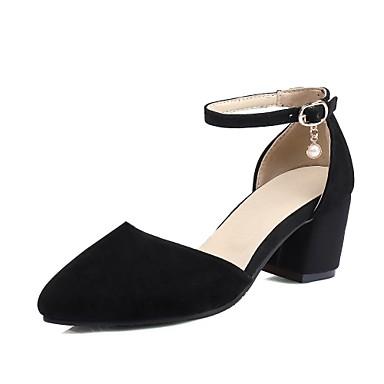 Femme Confort Beige Talon Printemps 06640465 Bout à Chaussures Eté Talons Noir pointu Similicuir Chaussures Bottier xrFqOIr