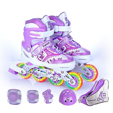 ราคาถูก สกู๊ตเตอร์,สเกตบอร์ดและโรลเลอร์-เด็กผู้ชาย / เด็กผู้หญิง รองเท้า inline skates สำหรับเด็ก ระบายอากาศได้, สวมใส่ได้, สามารถปรับความยืดหยุ่น ABEC-7 - สีน้ำเงิน, สีแดงชมพู, สีม่วง