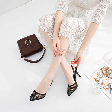 Chaussures Talons à Eté Femme Chaussures pointu Soirée Aiguille Noir amp; Evénement Bout Printemps 06647960 Talon Confort Tulle 4Sqxd1Ux