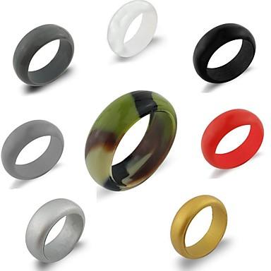 Silikonowe pierścionki / Opaski ślubne dla singli Z 1 pcs Styl, Ideał, Niedrogie Trening, Wygodny, Bezpieczeństwo Dla Unisex Joga / Fitness / Podróże