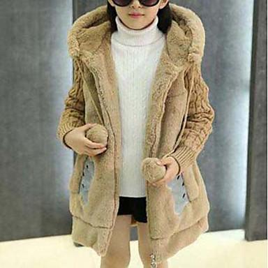 Χαμηλού Κόστους Ρούχα για Κορίτσια-Κοριτσίστικα Κινούμενα σχέδια Patchwork Ζώο Μακρυμάνικο Κανονικό Βαμβάκι Επένδυση με Πούπουλα & Βαμβάκι Ανθισμένο Ροζ
