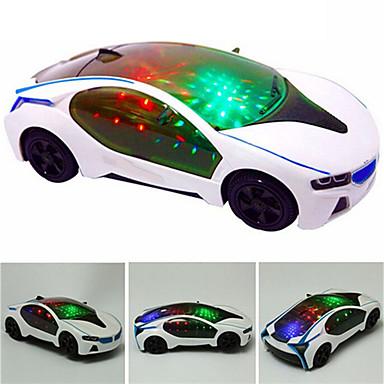 Недорогие Игрушки с подсветкой-LED освещение Транспорт Автомобиль Мерцание утонченный Мягкие пластиковые Детские Универсальные Игрушки Подарок 1 pcs