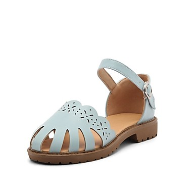 262f3b803d8 Mujer Zapatos Semicuero Verano Confort Sandalias Tacón Cuadrado Punta  cerrada Beige   Azul Oscuro   Rosa   Fiesta y Noche