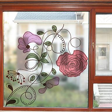 Folie okienne i naklejki Dekoracja Współczesny Kwiaty PVC Naklejka okienna / Matowy / a / hol / Salon
