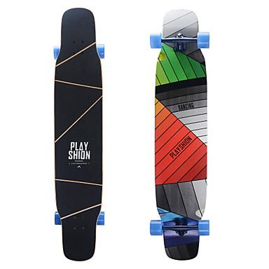 124 * 25cm Komplett Skateboard Longboards Holdbar Maple Gul Rosa Regnbue Sport & Utendørs