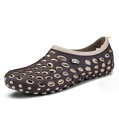Męskie Komfortowe buty PU Lato Klapki i japonki Czarny / Szary / Czerwony