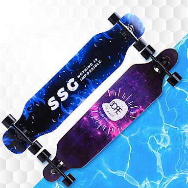 お買い得  スクーター&スケートボード-41インチ ロングボードスケートボード メイプル A8EC-9 多色 アンチスリップ, 手ぶれ補正 ブラック / オレンジ / ライトピンク / 青と黒