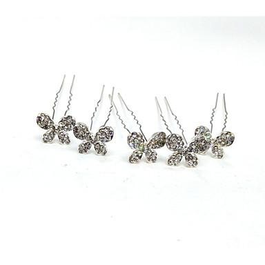 akcesoria do włosów ze stopu z kryształową obrączką ślubną z kryształu / rhinestone 5