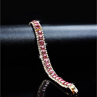 Classique Chaînes Femme Or Cristal Bracelets Plaqué Zircon Rétro 7gfY6by