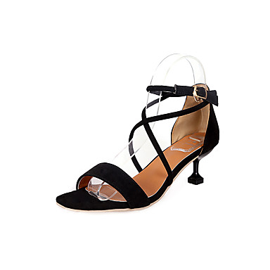 c39c606c714e Women s PU(Polyurethane) Summer Light Soles Heels Kitten Heel Pointed Toe  Rivet White   Black   Pink   Dress