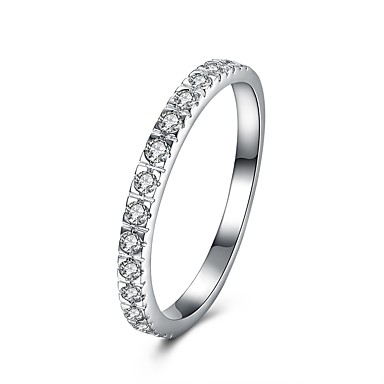 a286fbb7aa05 Women s Cubic Zirconia Band Ring S925 Sterling Silver Ladies Fashion Ring  Jewelry Silver For Gift Daily 6   7   8   9