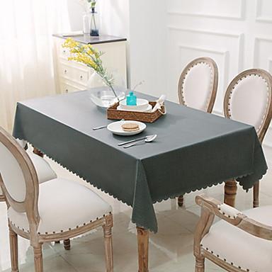 Współczesny PVC Kwadrat Obrusy lniane Jendolity kolor Dekoracje stołowe 1 pcs