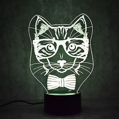 1 zestaw Kaktus 3D Nightlight Zmiana USB Czujnik dotyku / Zmieniająca Kolor / Z portem USB