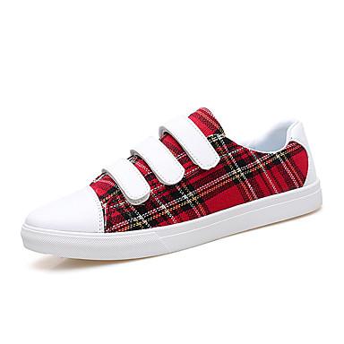 Męskie Komfortowe buty PU Wiosna / Jesień Adidasy Czerwony / Ciemnobrązowy / Ciemnozielony
