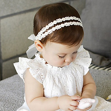 cheap Kids' Accessories-Infant Unisex Roman Knit Hair Accessories White One-Size / Headbands