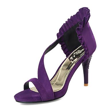 Rouge Printemps Sandales Chaussures Bout Nubuck Aiguille ouvert Violet Talon Confort Cuir 06627017 Nouveauté Femme Eté Noir qtHU16xww