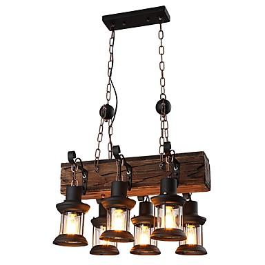 JLYLITE 6 świateł Żyrandol Oświetlenie od dołu (uplight) Malowane wykończenia Drewno / Bambus Szkło Styl MIni 110-120V / 220-240V Nie zawiera żarówek / FCC / VDE / E26 / E27