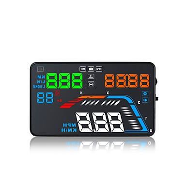 voordelige Automatisch Electronica-q700 5,6 inch led head-up display led-indicator multifunctioneel display plug and play voor vrachtwagenbus autoweergave km / h mph rijsnelheid