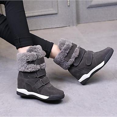 06668153 de Noir Femme Hiver Chaussures Bottes Plat Gris neige Bottes Kaki Talon Cuir Confort vvqOCxw6X