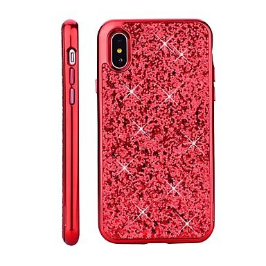 hesapli iPhone Kılıfları-Pouzdro Uyumluluk Apple iPhone X / iPhone 8 Plus / iPhone 8 Kaplama / Işıltılı Parlak Arka Kapak Işıltılı Parlak Sert PC