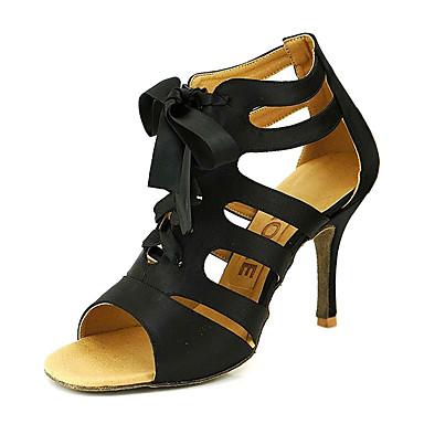 Femme Chaussures de danse Satin Salon / Chaussures de Salsa Boucle Sandale Personnalisables Jaune / Fuchsia / Violet / EU42