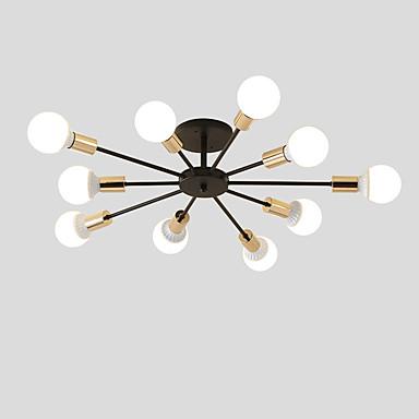 10 Head Vintage Metal Semi Flush Mount Ceiling Light Living Room Dining Lighting Painted Finish 6652469 2019 7751