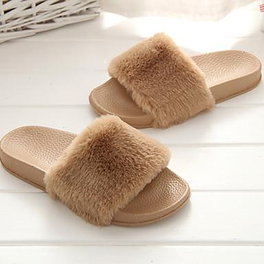 Primavera Confort Plano Caqui flops flip verano abierta 06683263 Rosa Zapatos Gris Tejido Zapatillas y Mujer Tacón Puntera EHqpU4cn