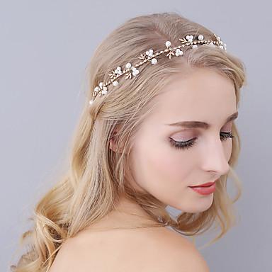 billige Hodeplagg til fest-Imitert Perle pannebånd med Krystall / Rhinestone 1 Deler Bryllup / Fest / aften Hodeplagg