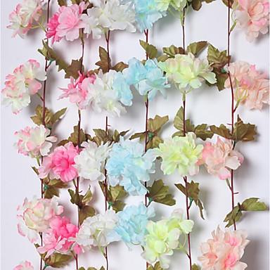 Sztuczne Kwiaty 2 Gałąź Klasyczna Pasterski Styl Rośliny / Sakura Kwiaty na ścianę