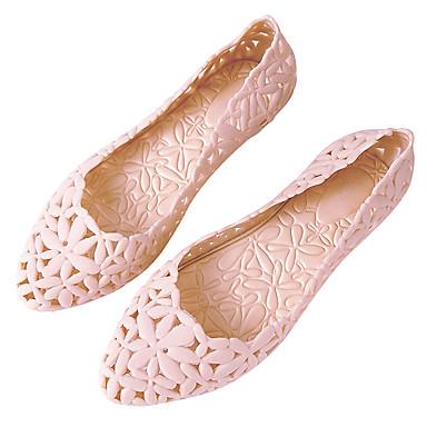 Gris redondo Zapatos Rosa Dedo Tacón Mujer Confort Plano 06672113 PVC Bailarinas Verano Wine aw1qO8xz
