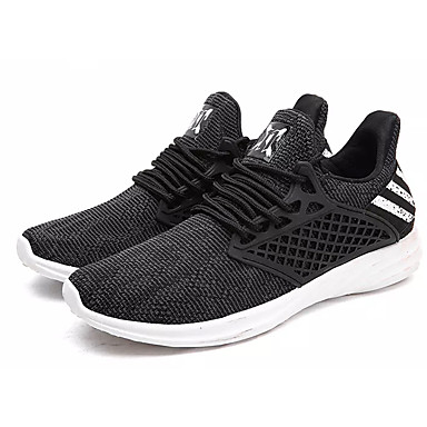Men's Light Soles Tulle Spring / Fall Black Athletic Shoes Walking Shoes Black Fall / Gray / Blue 7cc593