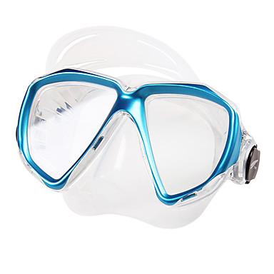 TUO Maska do snorkelingu / Gogle do pływania Nieparujący Dwa okna - Pływacki, Nurkowanie Silikonowa guma - dla Doroślu Żółty / Czerwony / Niebieski