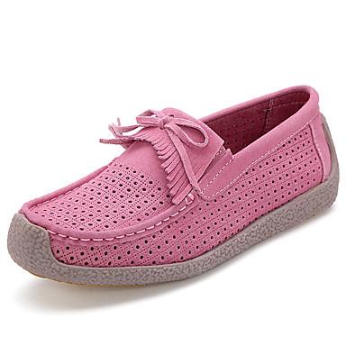 Daim 06716779 Rose Plat Printemps Gland Talon été D6148 Rouge Chaussures Moccasin Confort Femme Mocassins Bleu Chaussons et FZa5wqEP