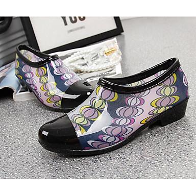 PVC Plano 06684240 Botas Botas de Primavera Tacón Zapatos Cuero lluvia Caqui Negro Mujer Claro wzqBFEaU