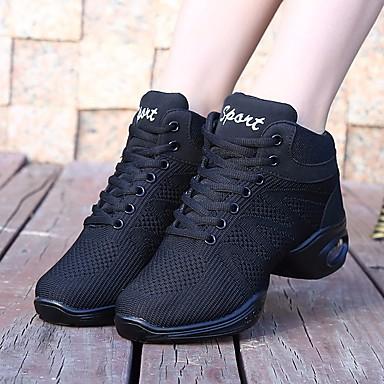 Obbiettivo Per Donna Sneakers Da Danza Moderna Tulle Sneaker Basso Scarpe Da Ballo Bianco - Nero - Prestazioni - Da Allenamento #06666783