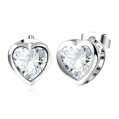 billige Moteøreringer-Diamant Kubisk Zirkonium Øredobber Magic Back Earring Hjerte Puls damer Mote øredobber Smykker Sølv Til Bryllup Daglig