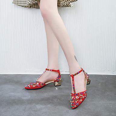Bottes Marche Heel Rouge EVA Rivet Noir Femme mollet Sandales Gomme Eté Block Mi Beige 06713744 Chaussures Salomé q88zYUw
