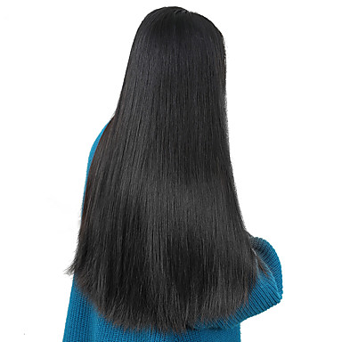 cheap Human Hair Wigs-Human Hair Unprocessed Human Hair Lace Front Wig Side Part style Brazilian Hair Straight Wig 250% Density with Baby Hair Natural Hairline Unprocessed Natural Women's Short Medium Length Long Human
