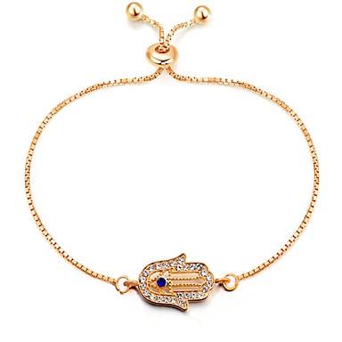 baratos Pulseira de Corrente-Mulheres Pulseiras em Correntes e Ligações senhoras Clássico Vintage Fashion Liga Pulseira de jóias Dourado Mão Hamsa Para Diário Encontro