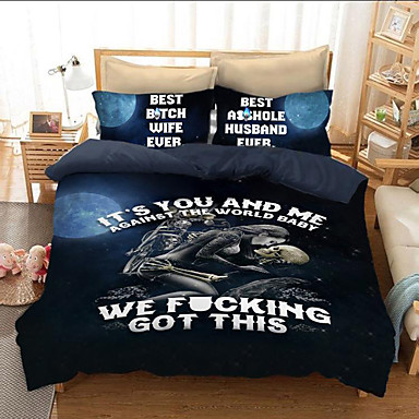 88963cea3b31 Duvet Cover Sets 3D Poly   Cotton   100% Cotton Reactive Print 3 Piece Bedding  Sets king