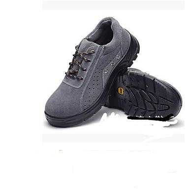 Męskie Komfortowe buty Zamsz Zima Oksfordki Turystyka górska Szary