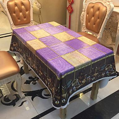 Nowoczesny Polichlorek winylu Kwadrat Obrus Geometric Shape Dekoracje stołowe 1 pcs
