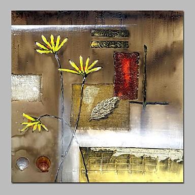 Hang-Malowane obraz olejny Ręcznie malowane - Martwa natura / Kwiatowy / Roślinny Vintage Brezentowy