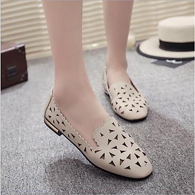 les chaussures de femme kaka (polyuréthane) printemps printemps printemps / automne le confort des mocassins et glisser ons croûton blanc / noir / beige 0b7570