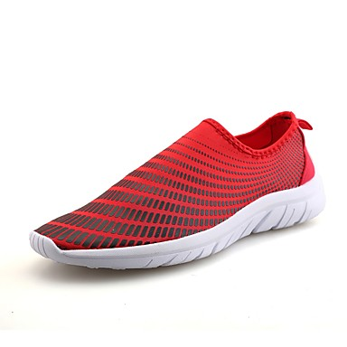 Men's Fabric Summer Comfort Athletic Shoes Running Shoes Blue Gray / Red / Blue Shoes fa04e6